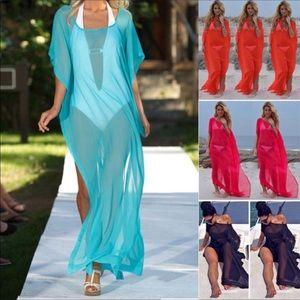 Other - Long sheer coverup dress BEAUTIFUL